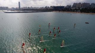 中国帆船帆板队奥运备战训练忙