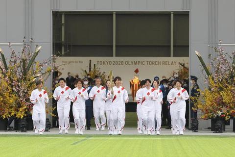 東京奧運會火炬傳遞福島開跑