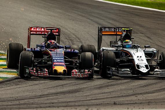 2015年F1巴西站,维斯塔潘VS佩雷兹