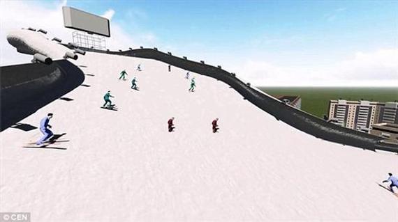 世界上首条闹市滑雪赛道即将面世