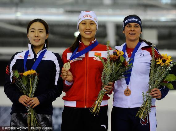 张虹500米夺冠