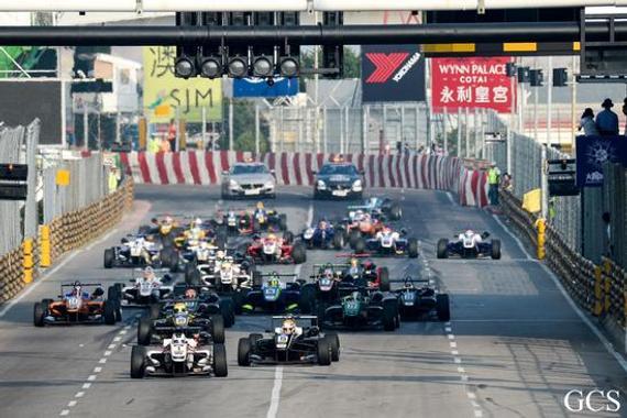 澳门格兰披治F3大赛,正赛发车