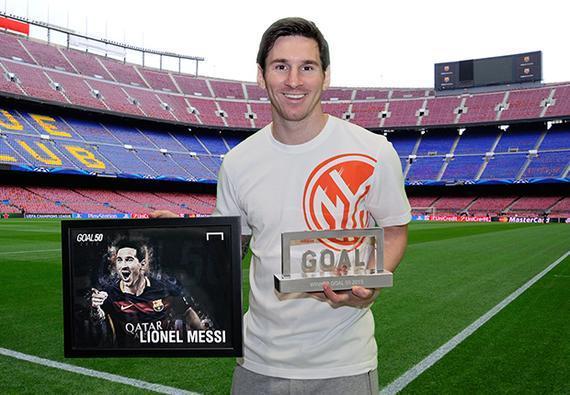 梅西荣获Goal体育年度最佳球员奖