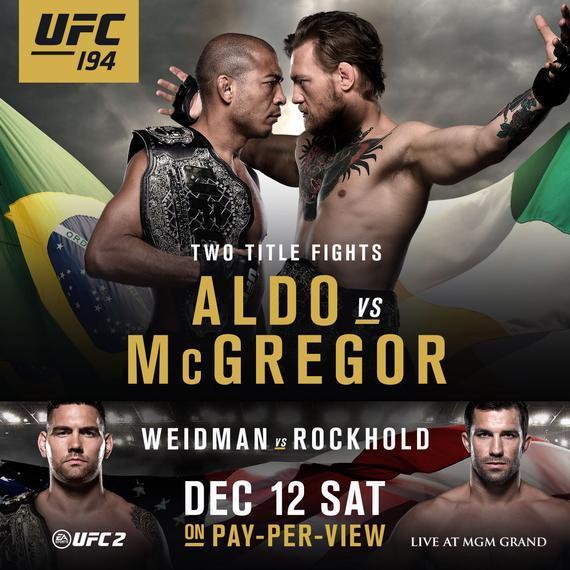 UFC194官方海报
