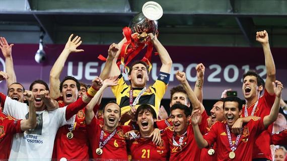 欧洲杯历史之2012:西班牙卫冕 大赛完美三连冠