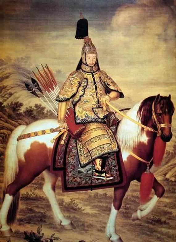 乾隆皇帝戎装骑马图