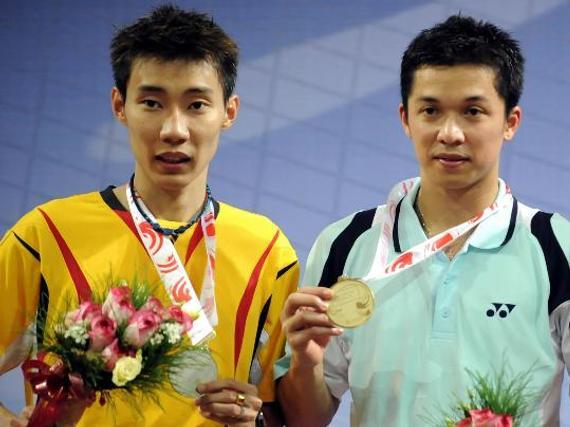 陶菲克和李宗伟(资料图)