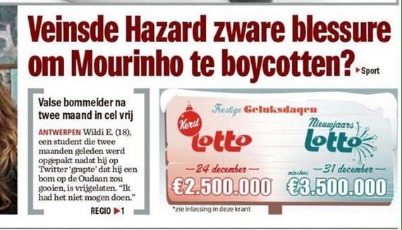 比利时《新闻报》质疑阿扎尔