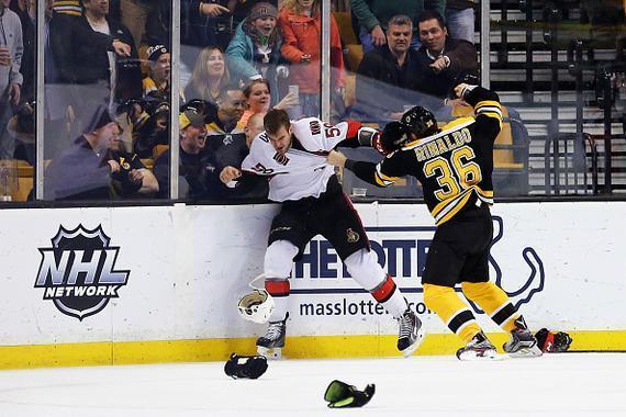 波士顿棕熊和渥太华参议员队员起冲突