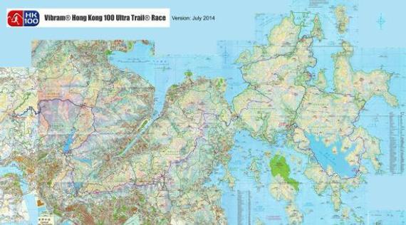 香港100路线全图。