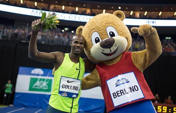 科林斯在去年的柏林室内赛上夺得60米冠军