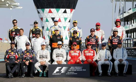F1车手2015年终合影