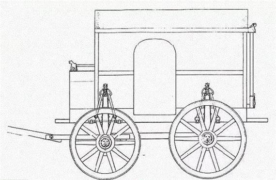 最早的马车简图