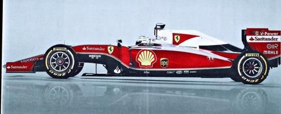 意大利《共和报》披露了法拉利新款F1赛车的官方草图