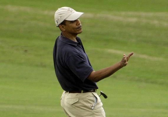 奥巴马挑战全美最难球场