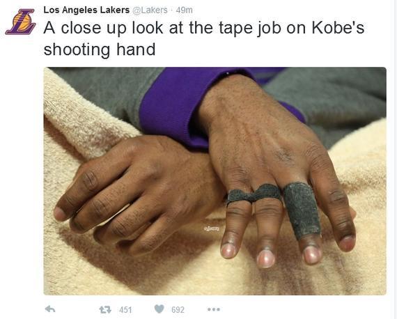 科比惨不忍睹的右手