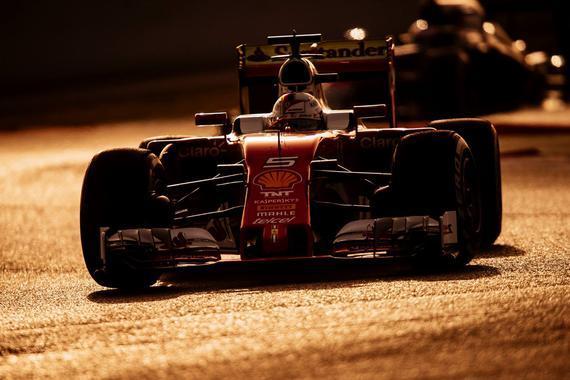 法拉利车队维泰尔测试极软胎