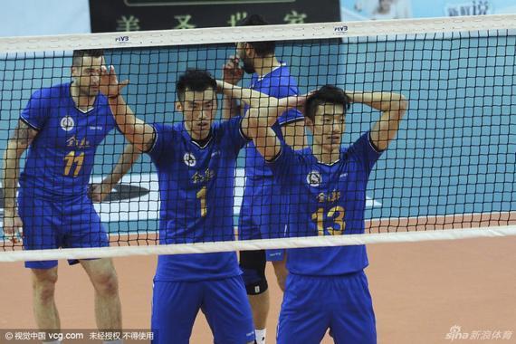 上海男排备战总决赛第三战