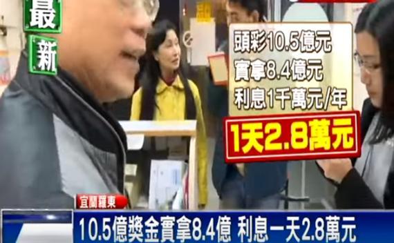10.5亿巨奖实拿8.4亿 利息一天2.8万