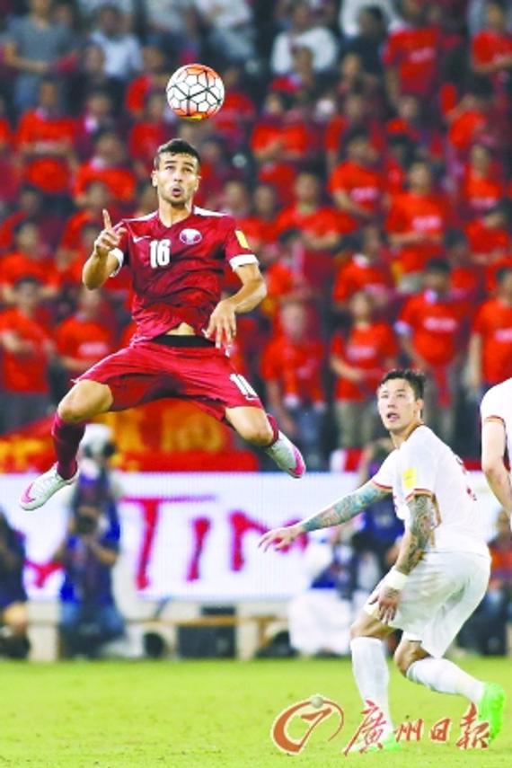 虽然卡塔尔队有4名主力缺阵,但迎回张琳芃的国足仍然面临一场恶战。 CFP