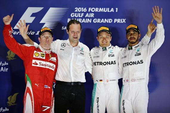 F1巴林站颁奖仪式