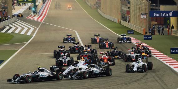 F1巴林站发车