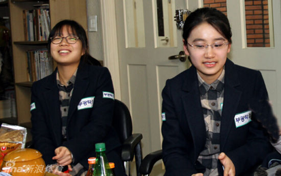 崔精与於之莹在韩国联赛中曾是队友