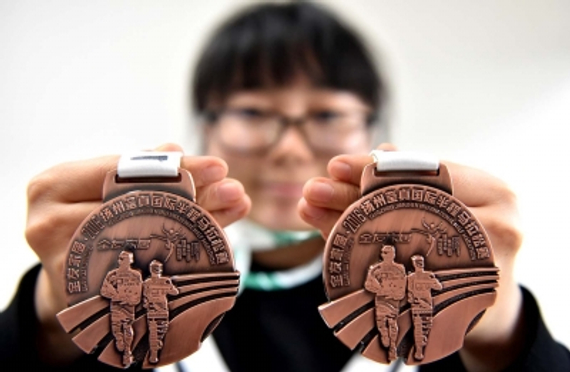 扬州半程马拉松奖牌出炉