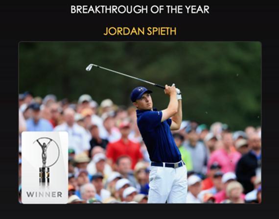 斯皮思成为第三位荣膺劳伦斯年度最好打破奖的高尔夫球手