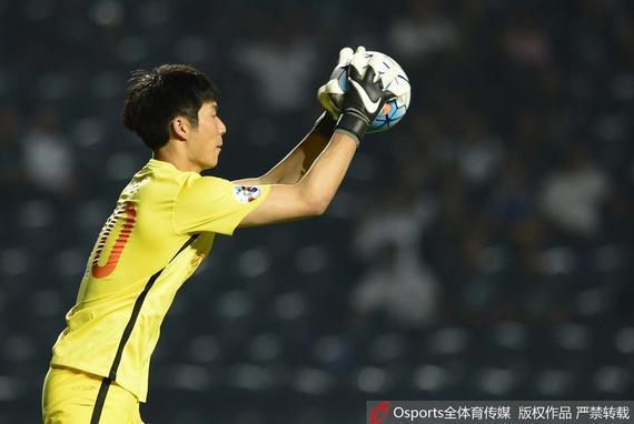 鲁能替补门将韩镕泽本赛季曾在中超亚冠中亮相
