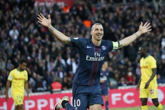 伊布夺金靴 巴黎4-0夺冠