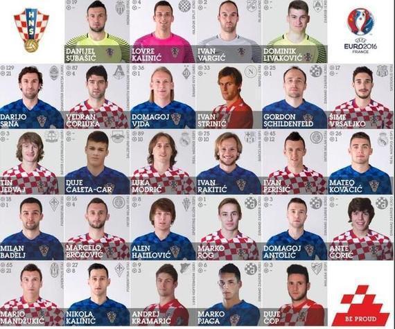 克罗地亚公布欧洲杯名单