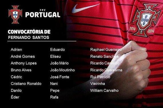 葡萄牙23人大名单