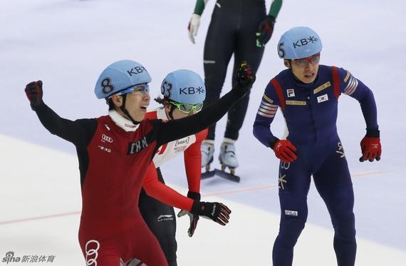 中国短道男队世锦赛创佳绩