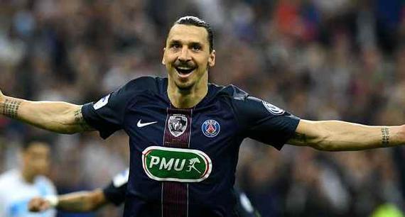 伊布告别赛2球1助攻,巴黎夺冠