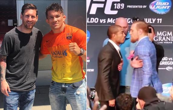 梅西和UFC名将托雷斯