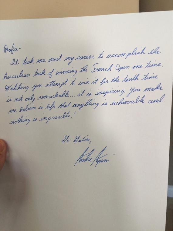 阿加西的手写信函