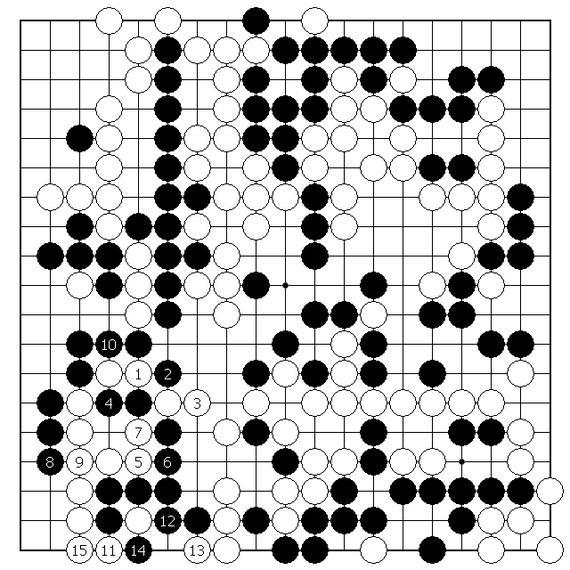 资料图:围棋棋谱图片