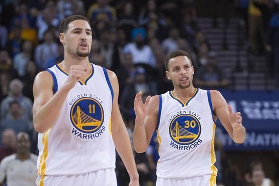 库里和汤普森均来自篮球世家