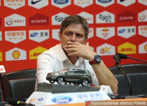 富力主帅斯托伊科维奇出席赛后发布会