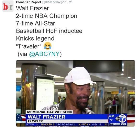 弗雷泽被纽约当地电视台当成普通旅客