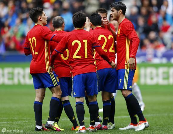 西班牙轻松击败韩国队