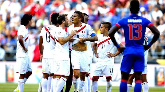 美洲杯赛场上的秘鲁队