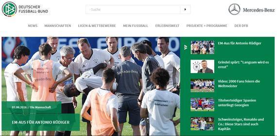 德国足协官网截图