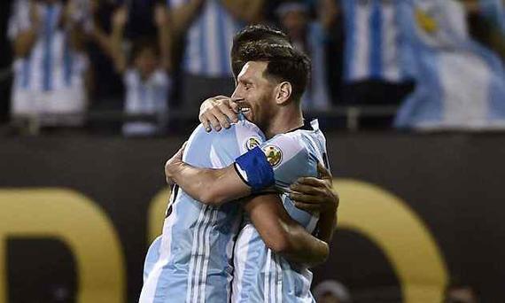 梅西3球,阿根廷5-0大胜