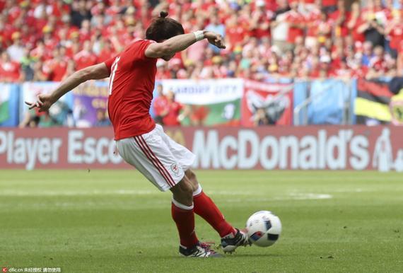 贝尔左脚轰电梯球破门