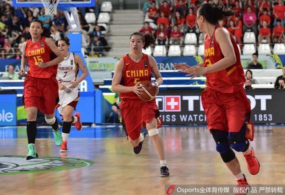 中国女篮落选赛首战轻松取胜