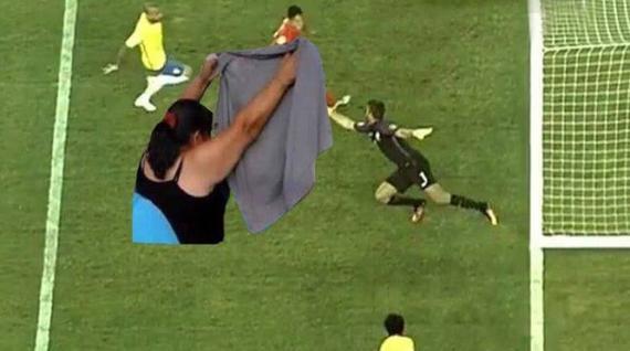 巴西比赛中遭遇低级误判