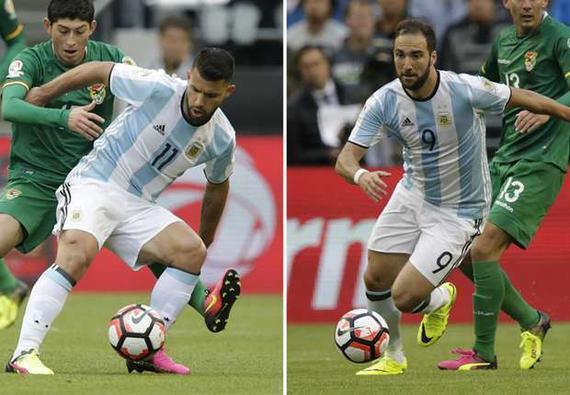阿根廷两大中锋堕入进球困难
