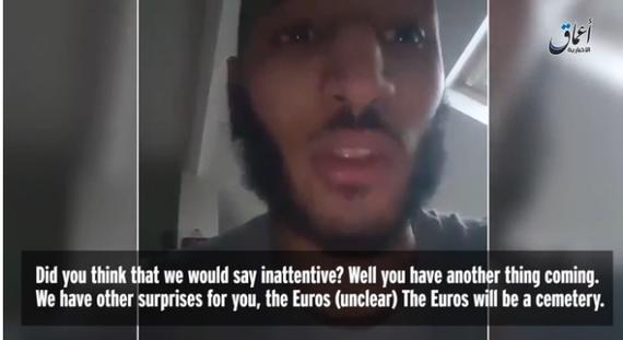 恐怖分子录视频警告法国政府